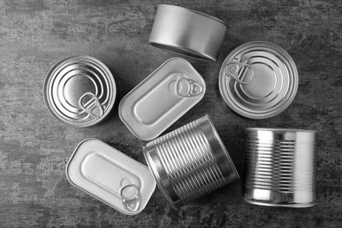 Diferentes formatos de latas.